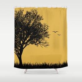 Warm Sky Shower Curtain