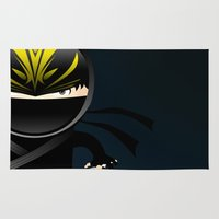 ninja Area & Throw Rugs featuring Ninja by Stephen Yan