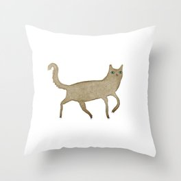 Suspicious-Looking Moggy Throw Pillow