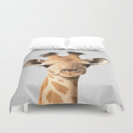 Baby Giraffe - Colorful Duvet Cover
