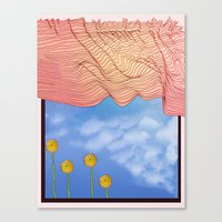 window Canvas Prints featuring Window by Brontosaurus