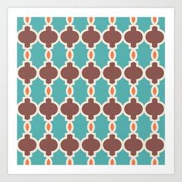 Hollywood Regency Trellis Pattern 639 Art Print