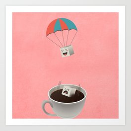 Cautious Sugar Cube Art Print