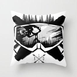 MTB Ride Throw Pillow