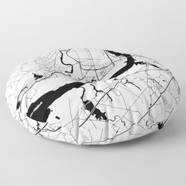 Philadelphia Minimal Map Floor Pillow