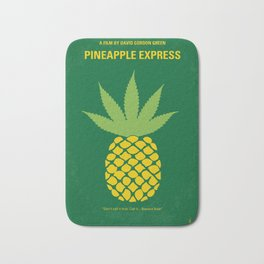 No264 My PINEAPPLE EXPRESS minimal movie poster Bath Mat