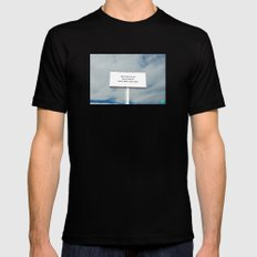 WHATEVER YOU DO Black Mens Fitted Tee MEDIUM
