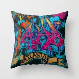 ATL Graffiti Throw Pillow