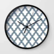 Navy Moroccan Wall Clock