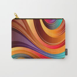 Abstract Colorful Swirls Carry-All Pouch