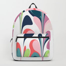 Colorful Abstract Floral Design Backpack
