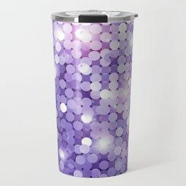Ultra Violet Purple Glitter Travel Mug