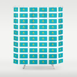 flag of Kazakhstan -Kazakhstan,Kazakh,Қазақстан,Казахстан,Kazakhstani,Astana. Shower Curtain
