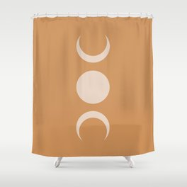 Moon Minimalism - Desert Sand Shower Curtain