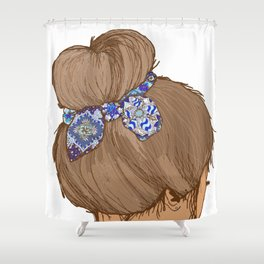 Brunette Shower Curtain