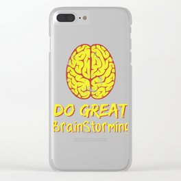 Problem Solving or Brainstorming Tshirt Design Do great brain storming Clear iPhone Case