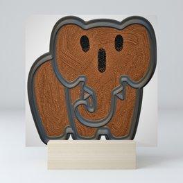 Cute elephant  Mini Art Print