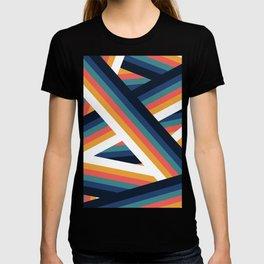Zig Zag Retro Color Stripe Lines T-shirt