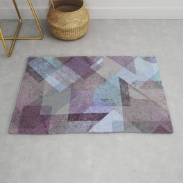 PLUM TURQUOISE ABSTRACT GEOMETRIC Rug