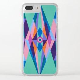 Sacred Geometric Triad Clear iPhone Case