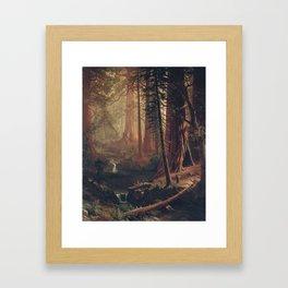 Giant Redwood Trees of California, Albert Bierstadt, 1874 Framed Art Print