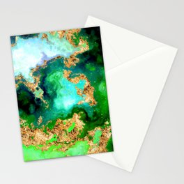 100 Starry Nebulas in Space 011 (Square) Stationery Cards
