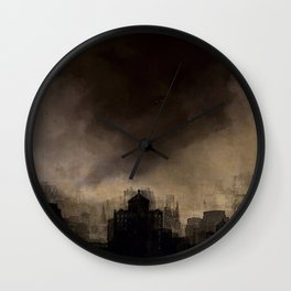 Glasgow dusk Wall Clock