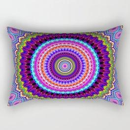 purple feathers Mandala Rectangular Pillow