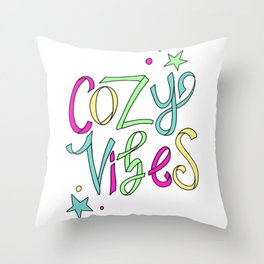 Cozy Vibes Throw Pillow