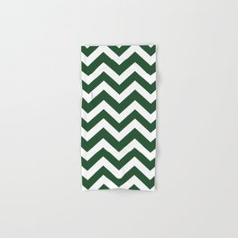 Cal Poly Pomona green - green color - Zigzag Chevron Pattern Hand & Bath Towel