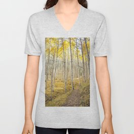 Fall Colors, Yellow Woods Unisex V-Neck