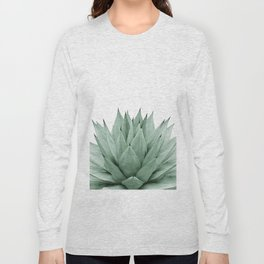 Agave Green Summer Vibes #1 #tropical #decor #art #society6 Long Sleeve T-shirt