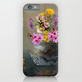 Japanese Stone Vase and Flowers iPhone Case