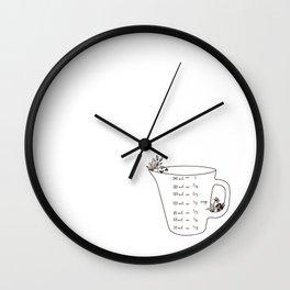 Brown Bear Kitchen Conversion Chart - measurements Wall Clock