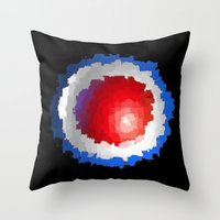 patriotic Throw Pillows featuring Patriotic  by C R Clifton Art
