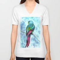ace V-neck T-shirts featuring Ace  by Raqueldraw