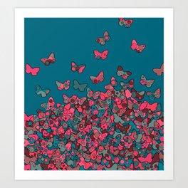 Flutterflies Art Print