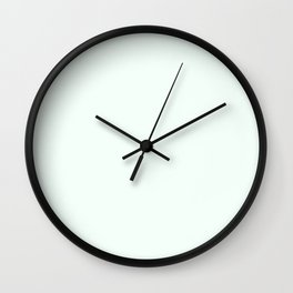 color mint cream Wall Clock