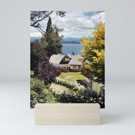 Cottage in Bariloche Mini Art Print