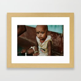 A Child's Gaze // India Framed Art Print
