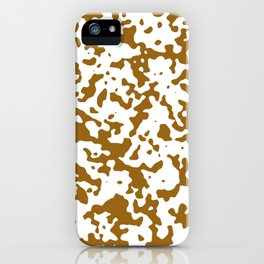 Spots - White and Golden Brown iPhone Case