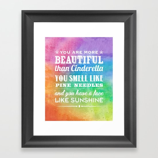 Sunshine Face Framed Art Print