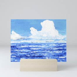 Infinite blue Mini Art Print