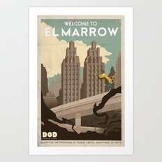 Grim Fandango Vintage Travel Poster - El Marrow Art Print
