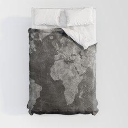 world map 55 black Comforters