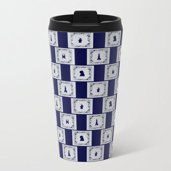 Collage Delft blue tiles Metal Travel Mug