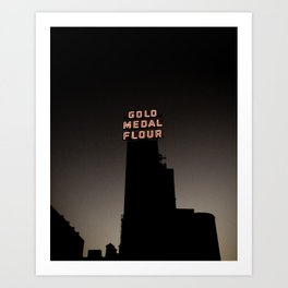 Gold Medal Flour Sign in Minneapolis Art Print