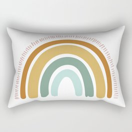 Boho Rainbow Rectangular Pillow