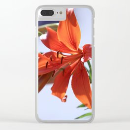 Spring Lily Profile Clear iPhone Case