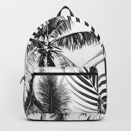 South Pacific palms II - bw Backpack